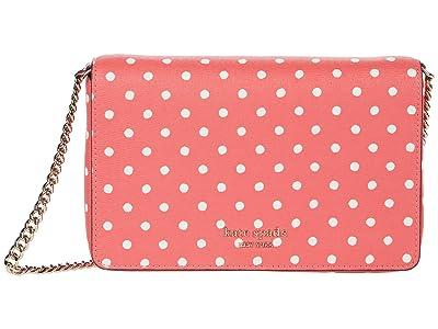 Kate Spade New York Spencer Dots Chain Wallet (Peach Melba Multi) Handbags