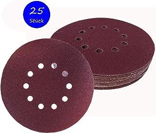40 pcs 150 mm 15 trous Rouge Velcro Meules Assortiment Set p60 p80 p100 p120
