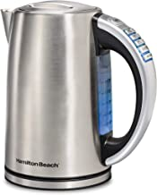 Hamilton Beach 1.7 Liter Variable Temperature Electric Kettle for Tea and Water, Cordless, LED Indicator, Keep Warm, Auto-Shutoff and Boil-Dry Protection, Stainless Steel (41020R)