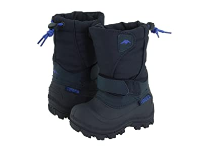 Tundra Boots Kids Quebec Wide (Toddler/Little Kid/Big Kid) (Navy) Boys Shoes