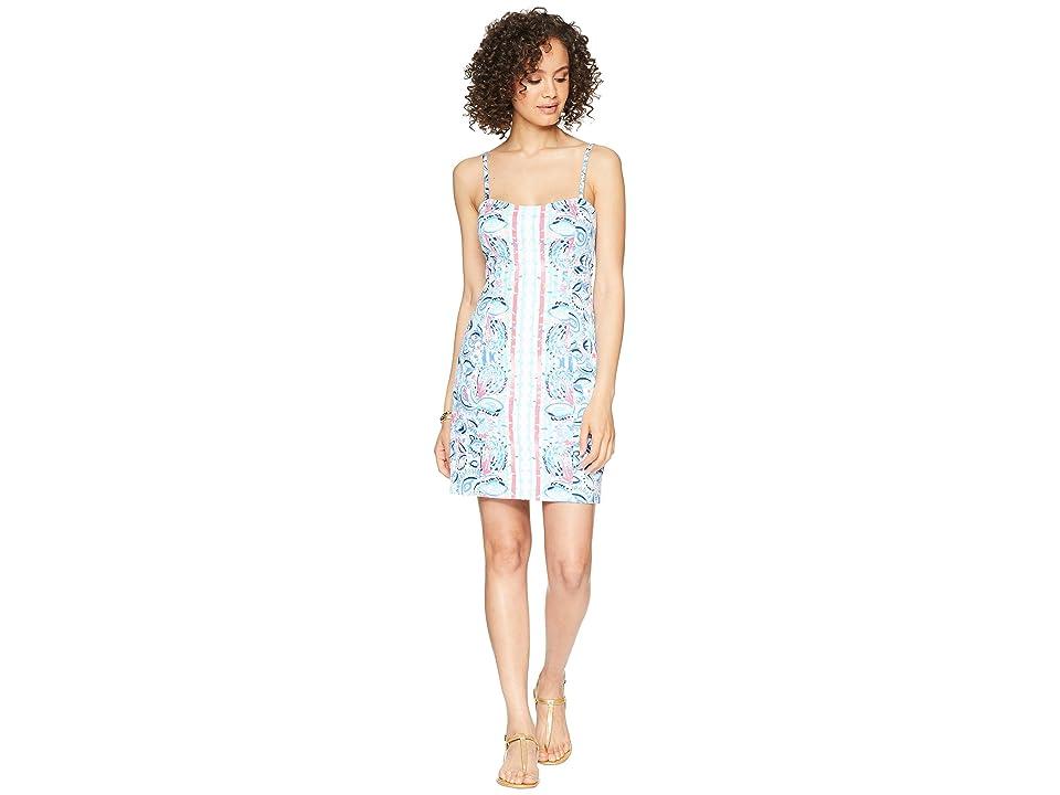 Lilly Pulitzer Shelli Stretch Dress (Resort White Stripes/Streamers) Women