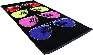 "J & M Home Fashions Fiber Reactive Beach Towel, 30 by 60"", Sunglasses"