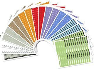 FreedomFiler Blank Assorted 1/5 Tab Expansion Labels 19-Pack