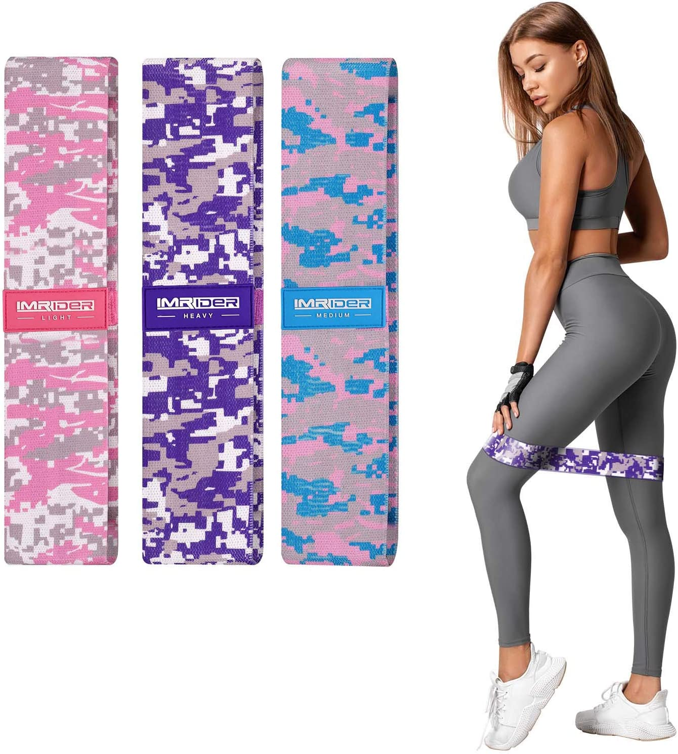 IMRIDER Resistance In a popularity Bands for Women Classic Exercise Fabric Loo Non-Slip