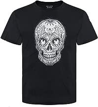 Pins & Bones Sugar Skull T Shirt Dia De Los Muertos Apparel Grey Skull Day of The Dead Tee