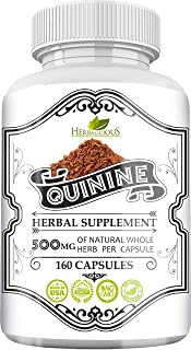HERBALICIOUS Quinine Capsules - Cinchona Officinalis Bark Herbal Supplement for Leg Cramping Relief, Cramp Defense and Ove...