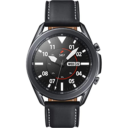 SAMSUNG Galaxy Watch 3 (45mm, GPS, Bluetooth) Smart Watch with Advanced Health Monitoring, Fitness Tracking, and Long lasting Battery - Mystic Black (US Version)