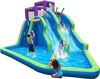 Kahuna Twin Falls Outdoor Inflatable Splash Pool Backyard Water Slide Park