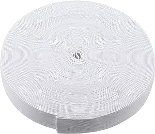 White Knit Elastic Spool (1 Inch x 22 Yard)