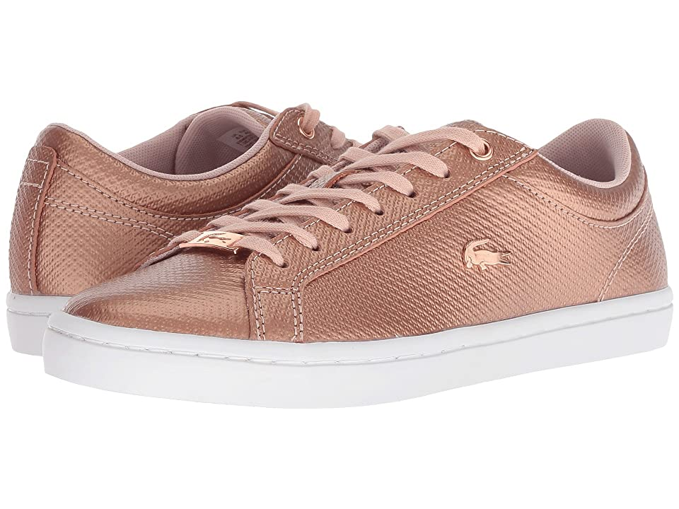 Lacoste Straightset 318 2 (Light Pink/White) Women