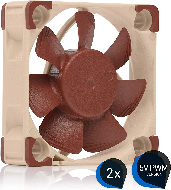 Noctua Bundle: 2x NF-A4x10 5V PWM, Ventilador Silencioso con Cable Adaptador USB, 4 Pines, Versión de 5V (40x10 mm, Marrón)