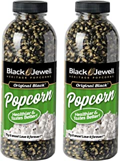 Black Jewell Original Black Hulless Popcorn Kernels 15 Ounces (Pack of 2)