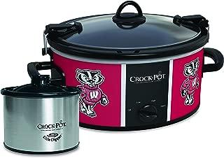 Crock-Pot Wisconsin Badgers Collegiate Cook & Carry Slow Cooker with Bonus 16-ounce Little Dipper Food Warmer