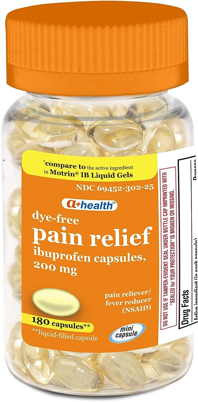 A+Health Dye-Free Max 51% OFF Ibuprofen 200 Mg Softgels Reliever Pain half Mini