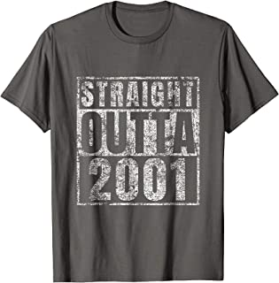 Straight Outta 2001 18 Year Old 18th Birthday Gift T-Shirt