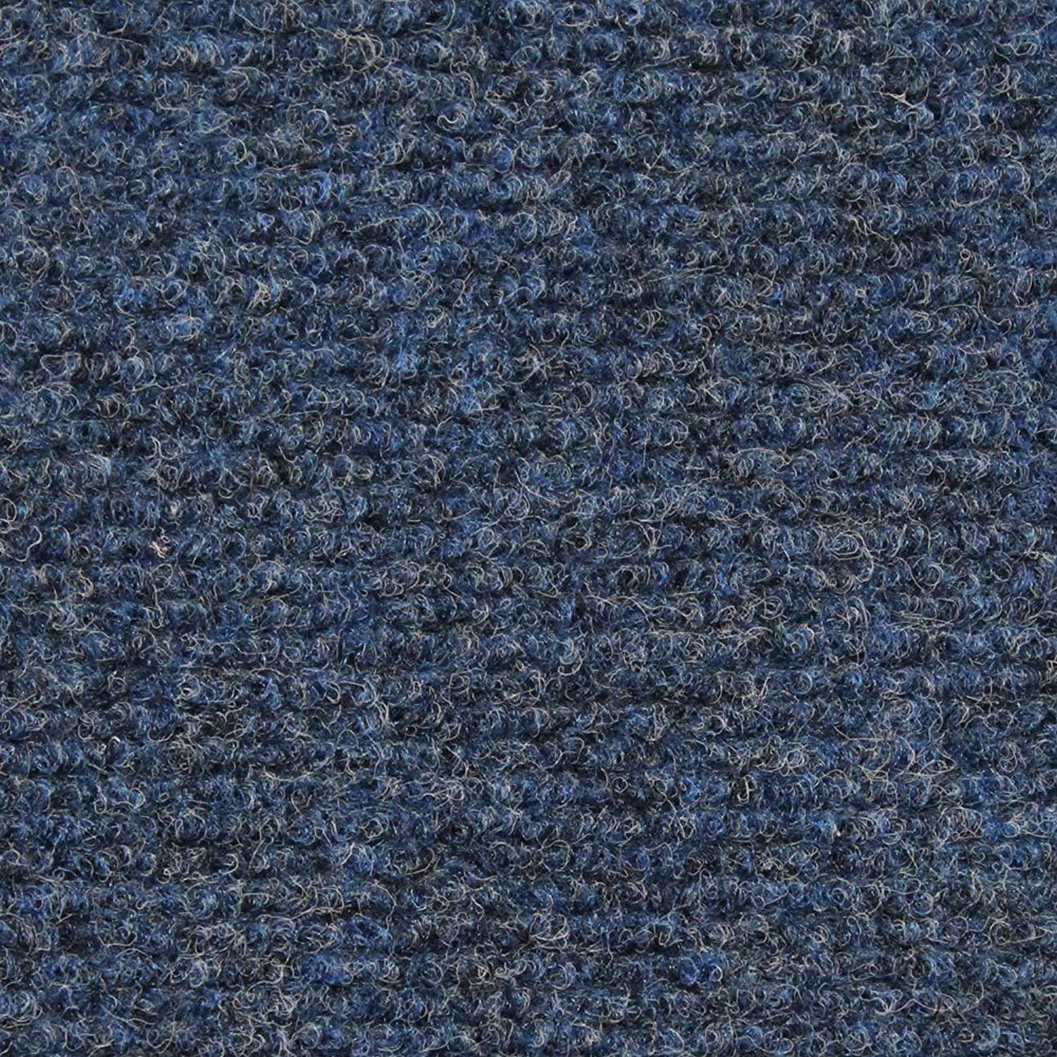 House, Home and More Indoor Outdoor Carpet with Rubber Marine Backing - bluee 6& 39; x 10& 39; - Carpet Flooring for Patio, Porch, Deck, Boat, Basement or Garage
