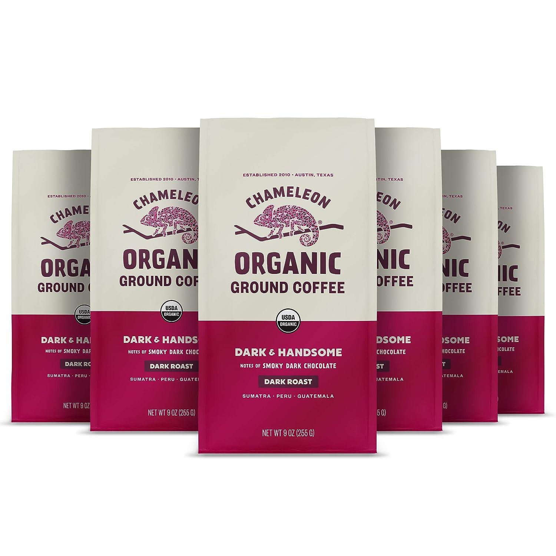 Chameleon Organic Ground Fashionable Coffee Handsome Limited price sale Arabica 100% Dark
