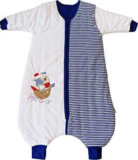 Slumbersac Toddler Sleeping Bag with Feet and Removable Long Sleeves 2.5 Tog - Pirate - 24-36 months/100cm