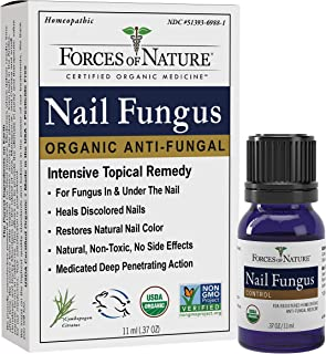 Forces of Nature -Natural, Organic Nail Fungus Treatment (11ml) Non GMO, No Harmful Chemicals, Nontoxic –Fight Damaged, Cracked, Brittle, Discolored Yellow and black Toenails, Fingernails