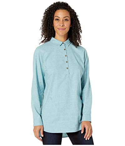 Royal Robbins Hemp Blend Long Sleeve (Frost Blue) Women