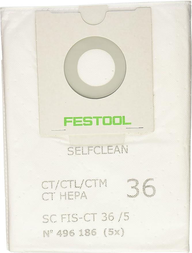 10x bolsas para aspirador tejido Festool CTL//CTM 36 no 48 36//5 48 AC,EAC