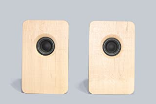 宗七音響 model 216 デスクトップパッシブスピーカー(メープル) 2台1組 総無垢材 オイル仕上げ デンマーク Scan Speak社製ドライバー搭載 オリジナルスピーカーケーブル付き