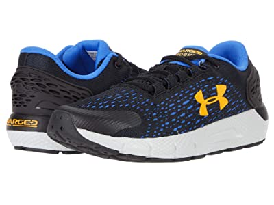 Under Armour Kids Charged Rogue 2 (Big Kid) (Black/Halo Gray/Lunar Orange) Boys Shoes