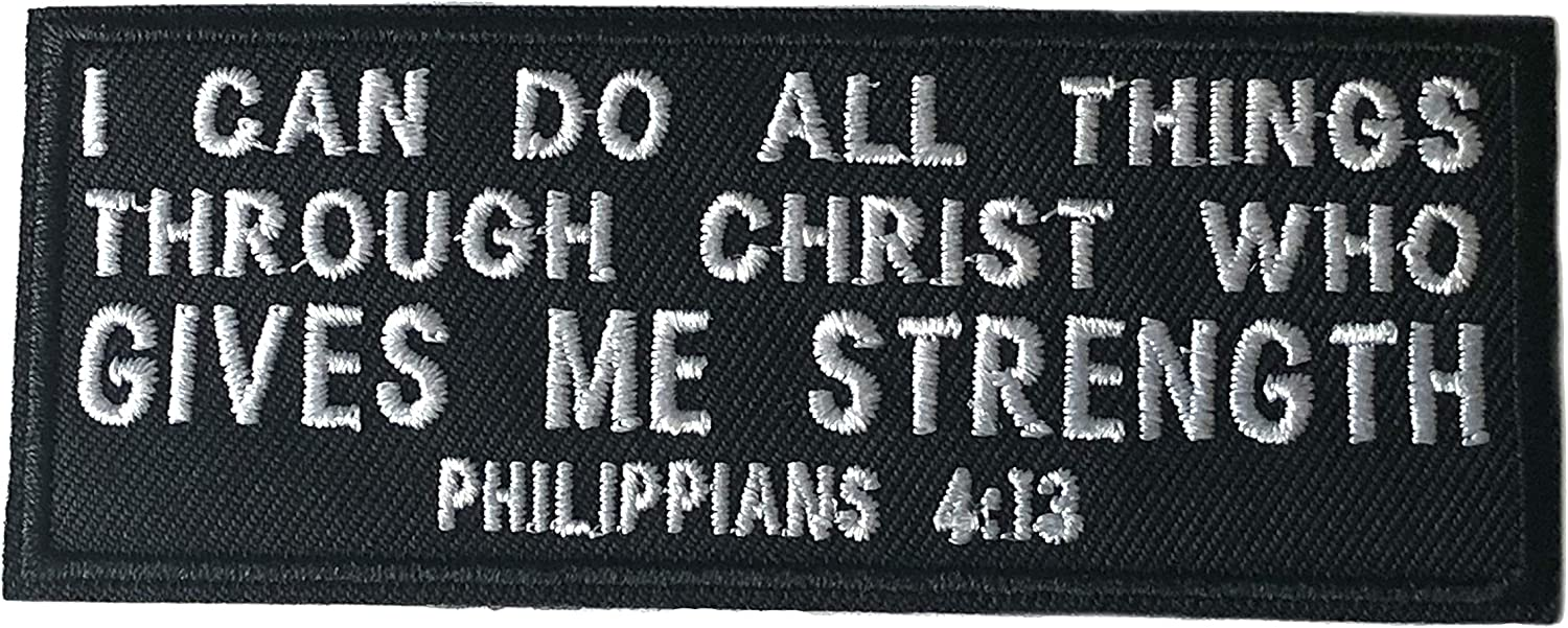 Philippians Quality inspection 4:13 Religious Eternal Life Jesus Verse Bible Faith Cheap mail order specialty store