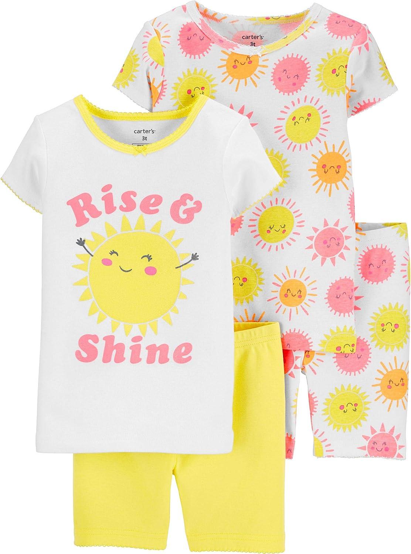 Carter's Toddler and Baby Girls' 4 Piece Cotton Pajama Set