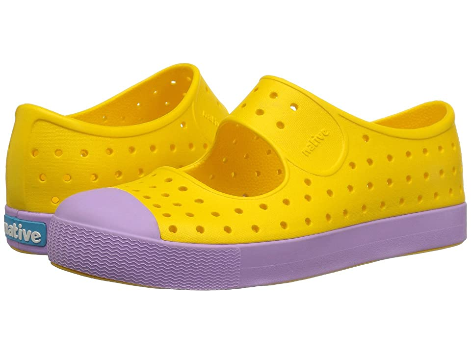 Native Kids Shoes Juniper (Little Kid) (Groovy Yellow/Lavendar Purple) Girls Shoes