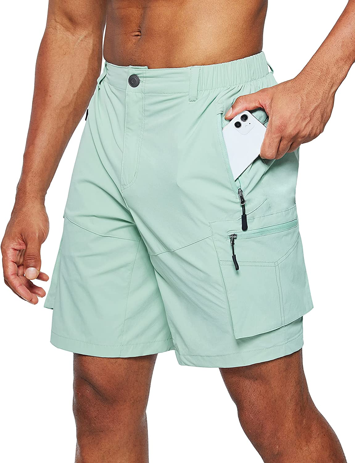 Pudolla Men's Popular products Hiking Arlington Mall Cargo Shorts Quick Dry Short Outdoor Travel