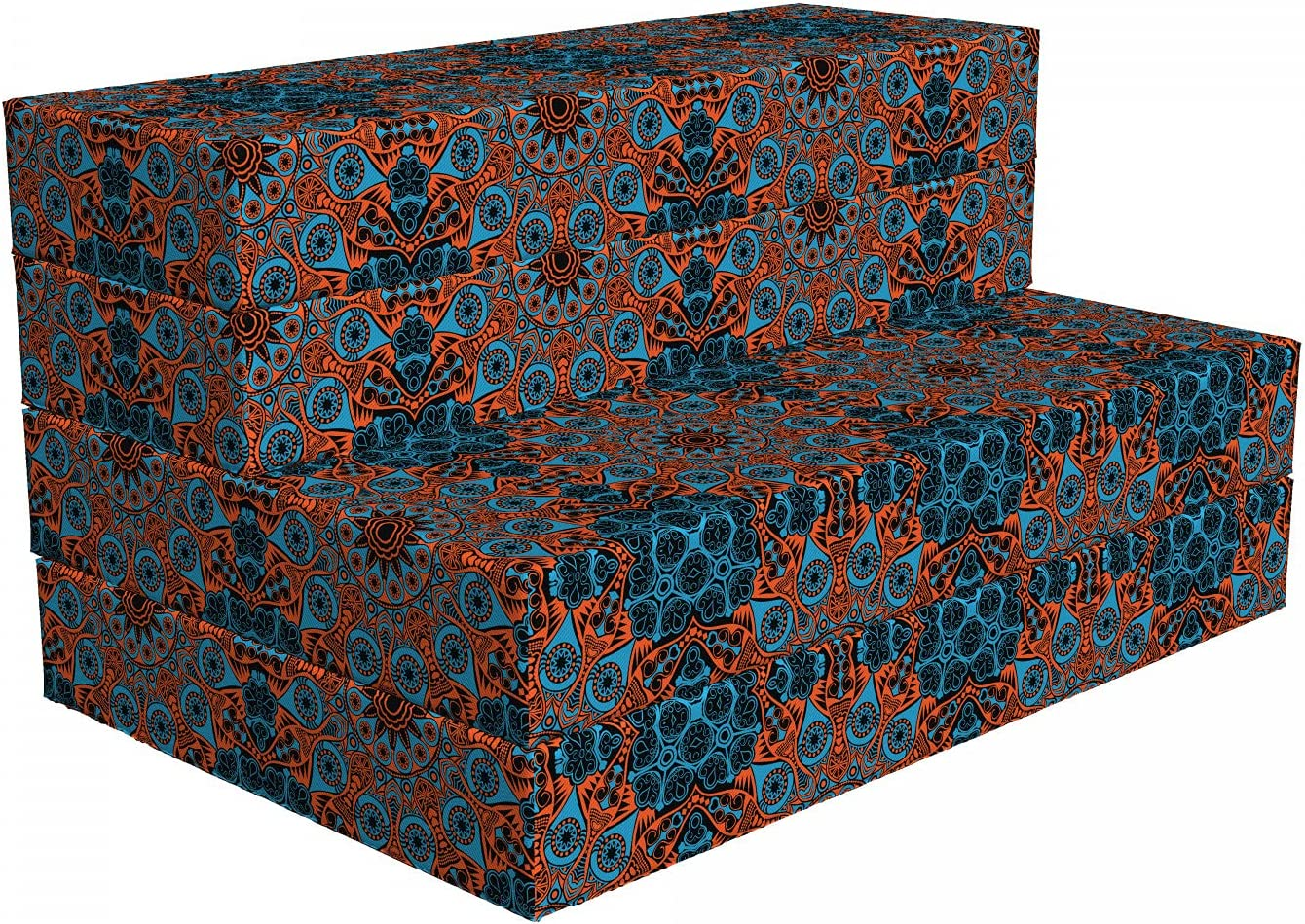 Ambesonne Max 58% OFF Quality inspection Mandala Foldable Mattress Chinese Lace x Motif 74.8