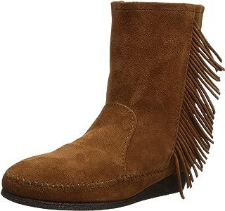 Women's Side Fringe Wedge Western Boot