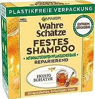 Garnier Festes Shampoo, Reparierendes Honig Schätze-Shampoo mit Bienenwachs, kräftigt, schützt & nährt strapaziertes und...