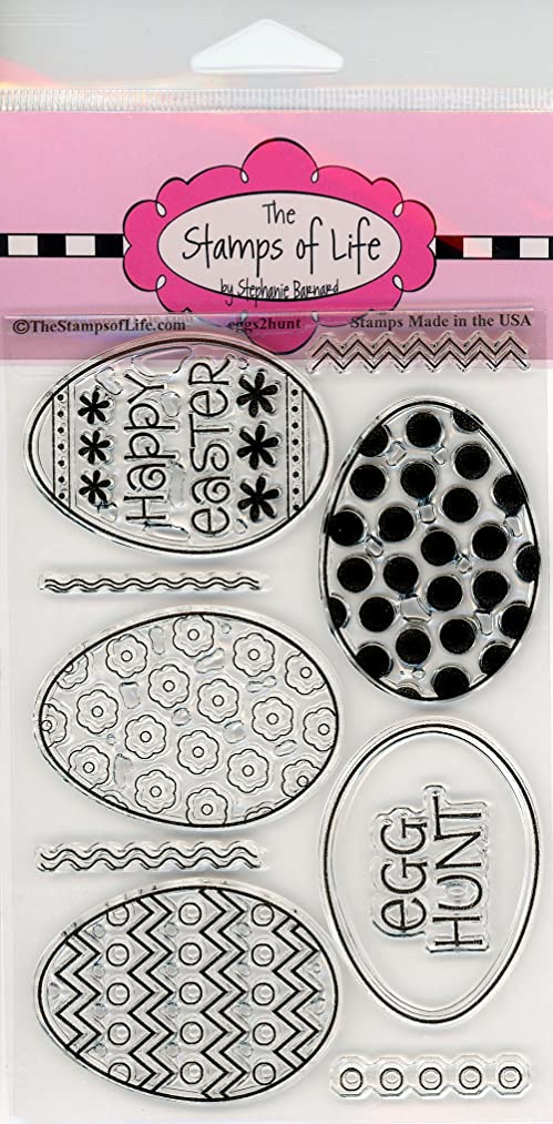 Easter Eggs Clear Stamps for Scrapbooking and Card-Making by The Stamps of Life - Eggs2Hunt