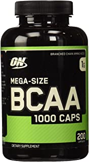 OPTIMUM NUTRITION Instantized MEGA SIZE BCAA 1000 CAPS, Branched Chain Essential Amino Acids Capsules, 1000mg, 200 capsules