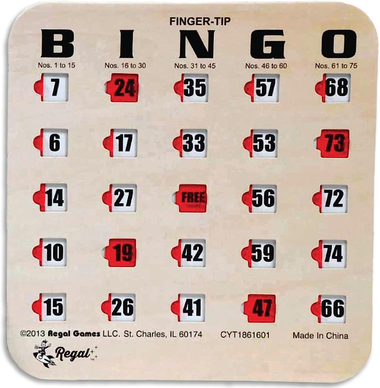 Regal Games Woodgrain Finger-Tip Department store Shutter Cards Bingo Challenge the lowest price of Japan ☆ Slide