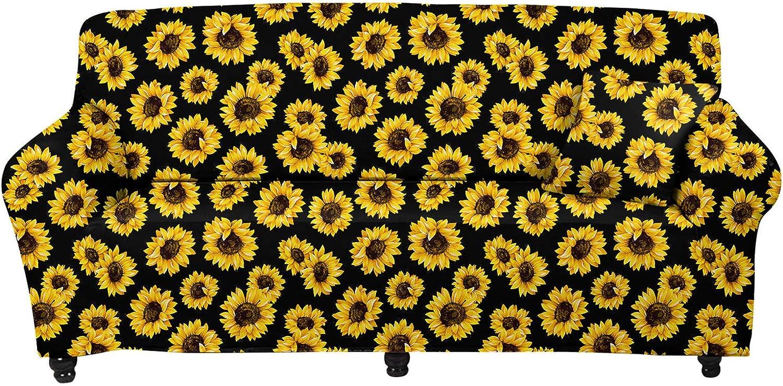 Don't miss the campaign JoyLamoria Sunflower Decorative Stretch Sofa Slipcovers Cheap sale Furnitur