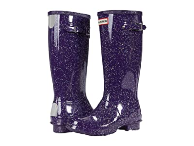 Hunter Kids Original Giant Glitter Wellington Boots (Little Kid/Big Kid) (Cavendish Blue) Girls Shoes