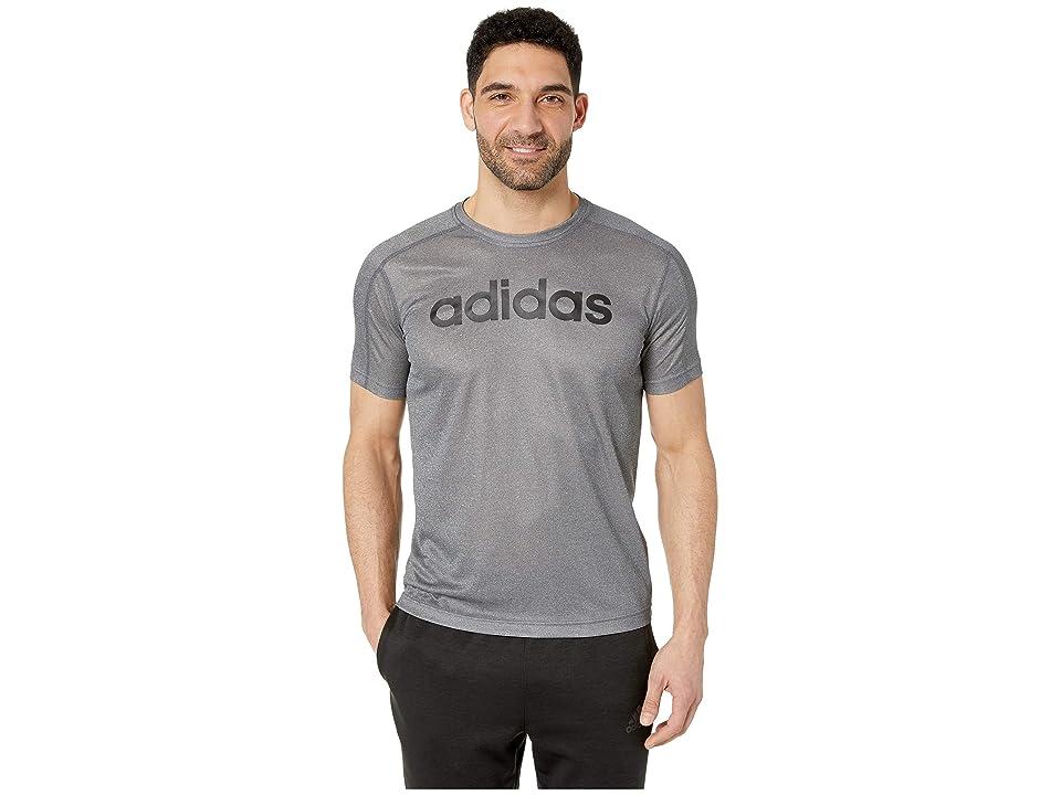 adidas Designed To Move Big Logo Tee (Grey Six/Black) Men's T Shirt