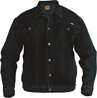 W54L30 Black Duke London Mens Mario Big Tall King Size Bedford Cord Jeans with Belt