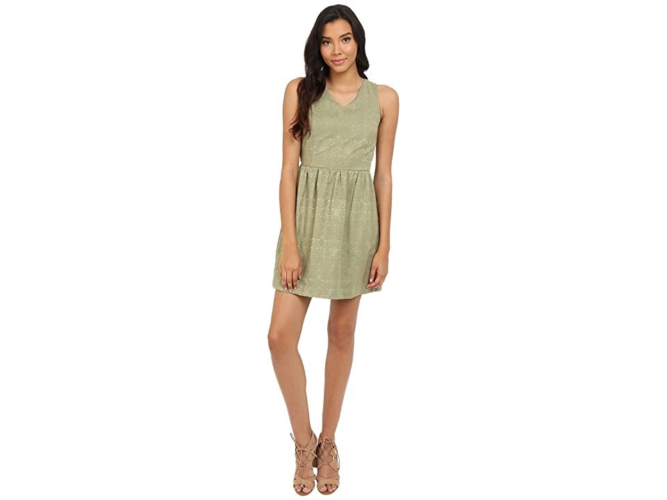 kensie Soft Texture Geo Dress KS4K7930 (Dusty Olive) Women