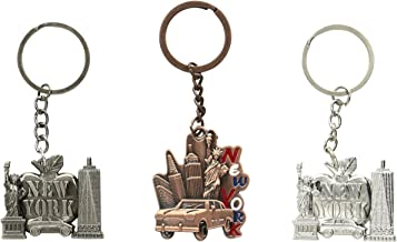 ASFSouvenir Unisex-Adult Big Apple, New York Taxi and Freedom Tower NY Souvenir Metal/Statue of Liberty/NY Key Chains/Souv...