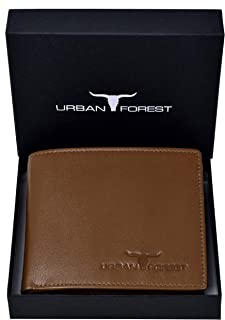 URBAN FOREST Men's Leather Dakota Tobacco Wallet (Khaki Brown)