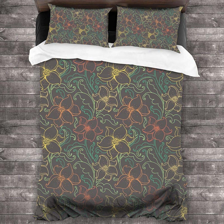 Seamless Landscape Pattern Brushed Max 59% OFF Microfiber 55% OFF Duvet 3pc Bedding