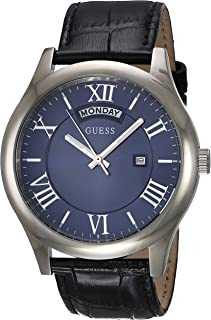 Guess Men's Blue Dial Synthetic Band Watch - W0792G1