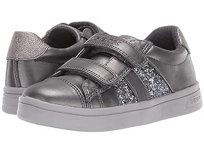 Geox Kids Jr Djrock 35 (Little Kid) (Black/Charcoal 2) Girls Shoes