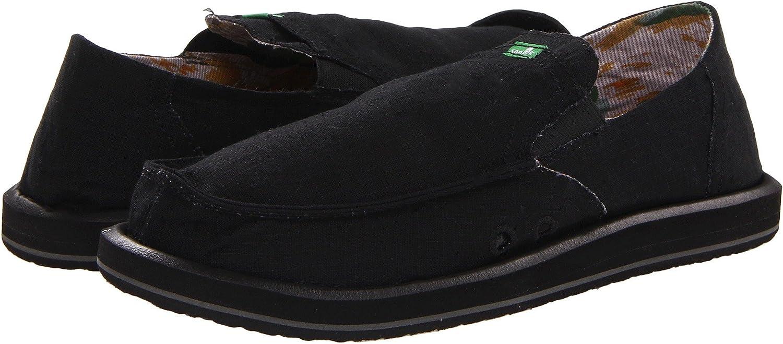 Sanuk Hommes's Pick Pocket Sidewalk Surfer chaussures, noir, 13 M US