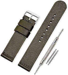 comprar comparacion Vinband Correa Reloj Calidad Alta Lienzo Correa Relojes Militar del ejército - 18mm, 20mm, 22mm, 24mm Correa Reloj con Heb...