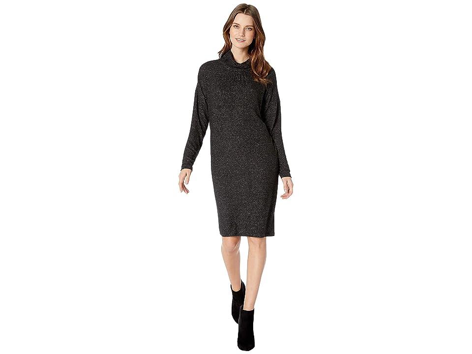 B Collection by Bobeau Siena Mock Neck Dress (Raven Black Mix) Women